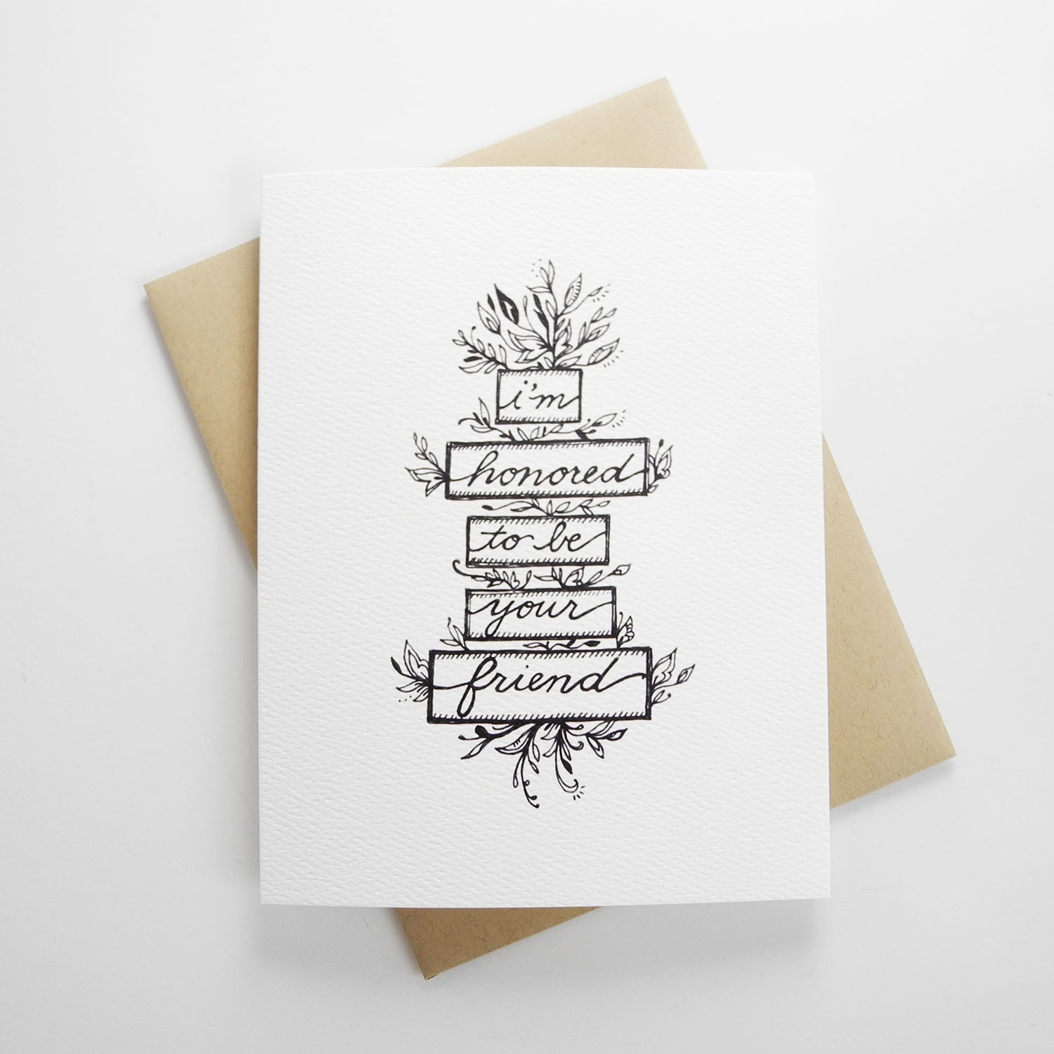 Honored to be your friend hand illustrated greeting card doodle honored to be your friend hand illustrated greeting card kristyandbryce Image collections