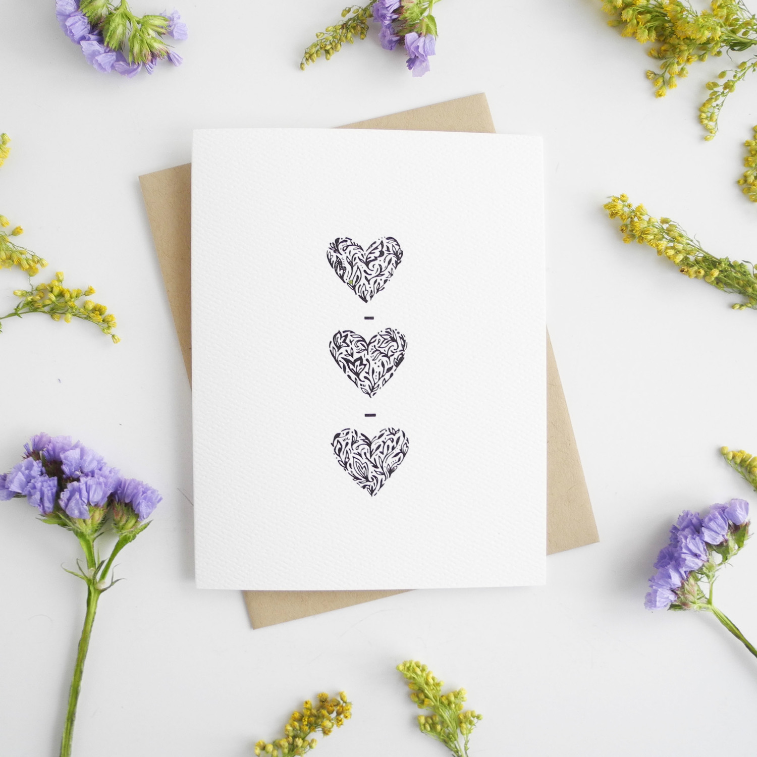 Hearts hand illustrated greeting card doodle bubble designs hearts hand illustrated greeting card m4hsunfo