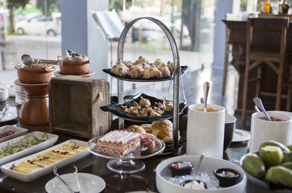 Daily breakfast spread at Hotel Demetria