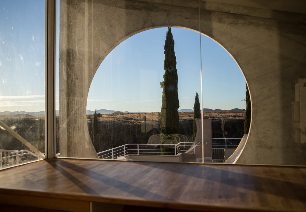 View from the Sky Suite at Arcosanti