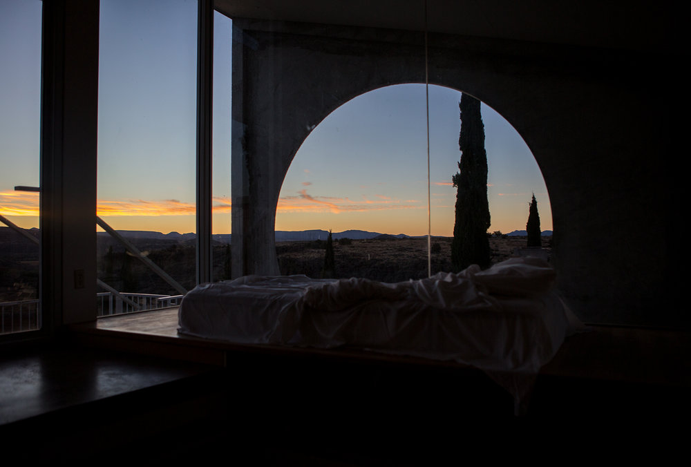 Sunrise Inside the Sky Suite at Arcosanti