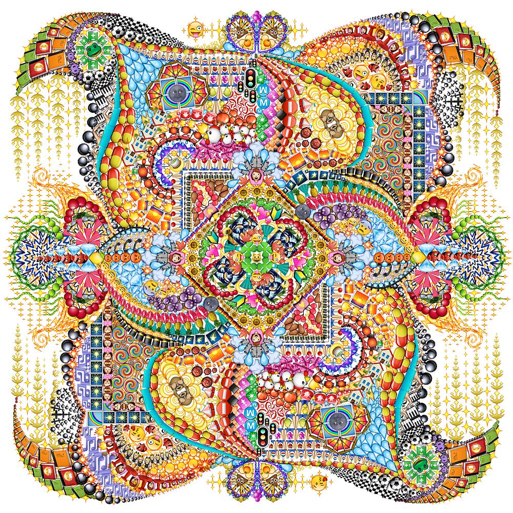 Emoji Mandala no.3