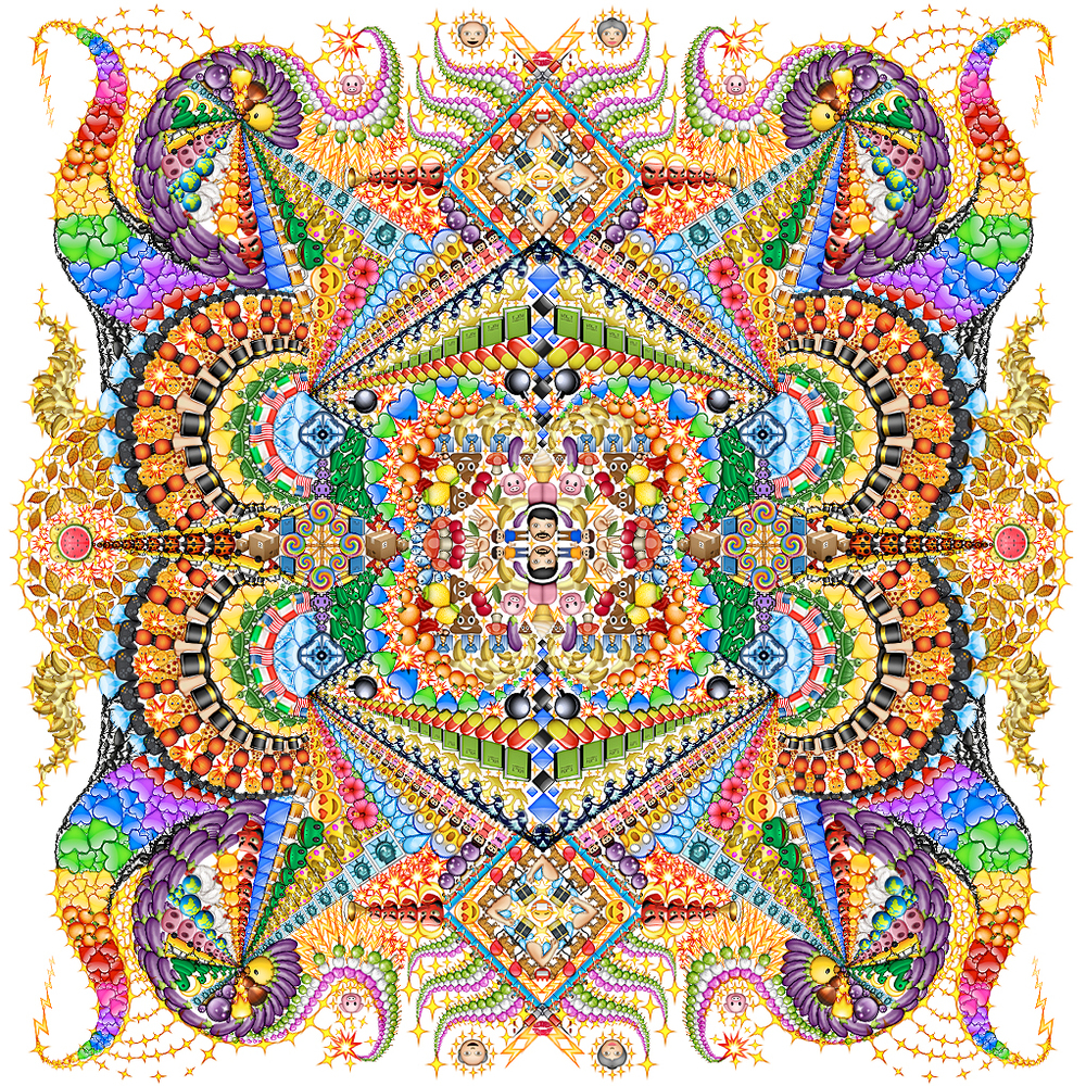 Emoji Mandala no.4