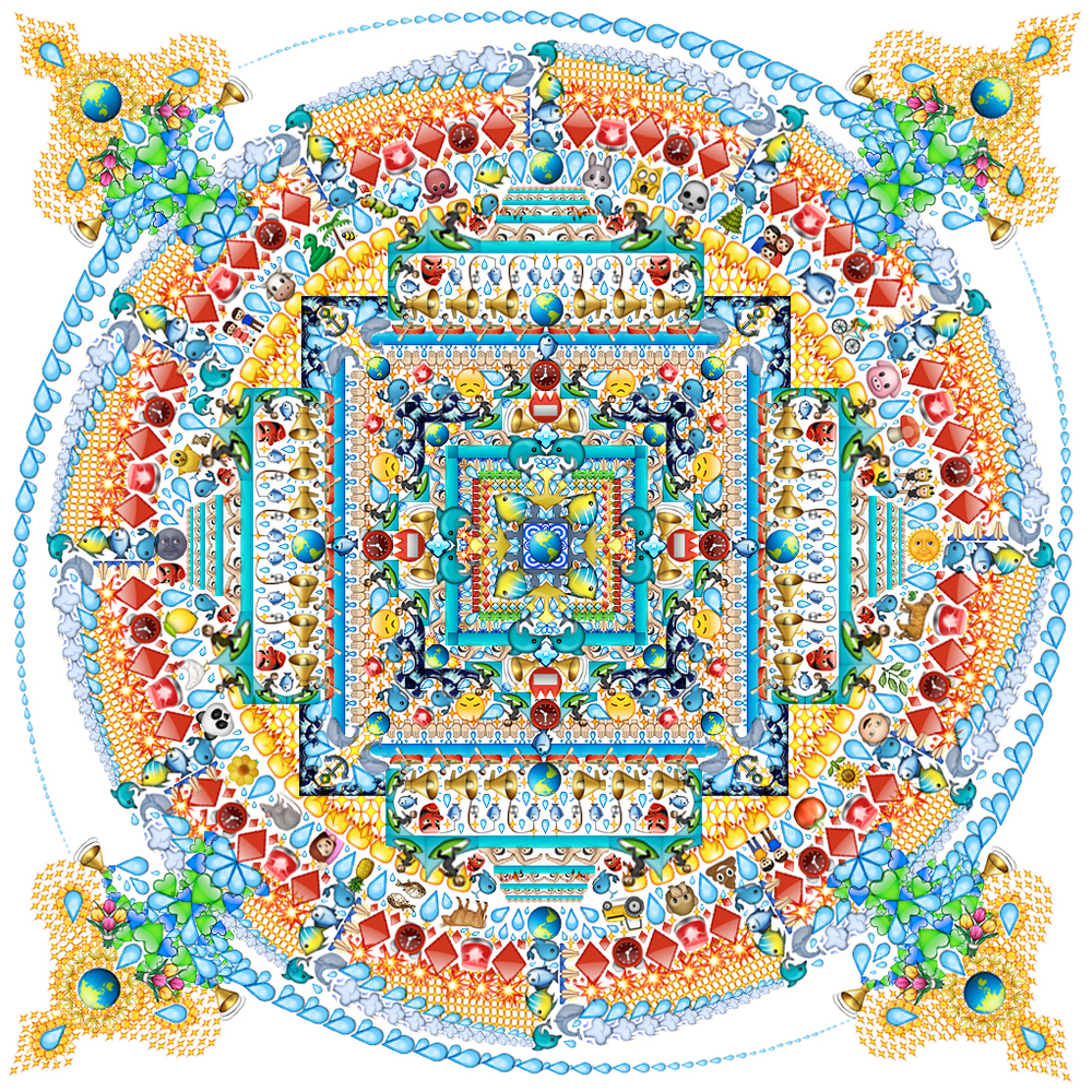 Emoji Mandala no.5