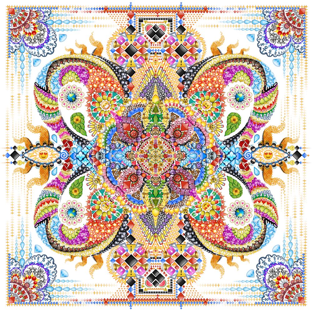 Emoji Mandala no.6