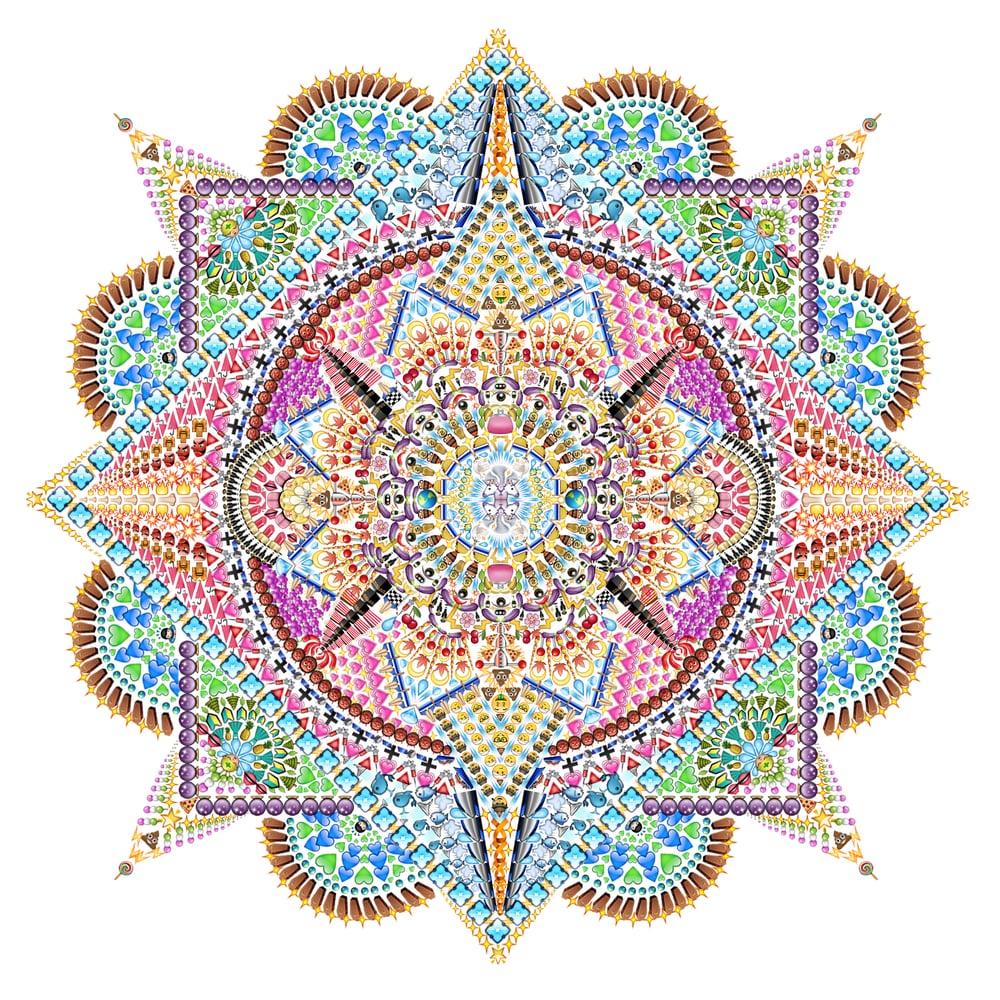 Emoji Mandala no.8