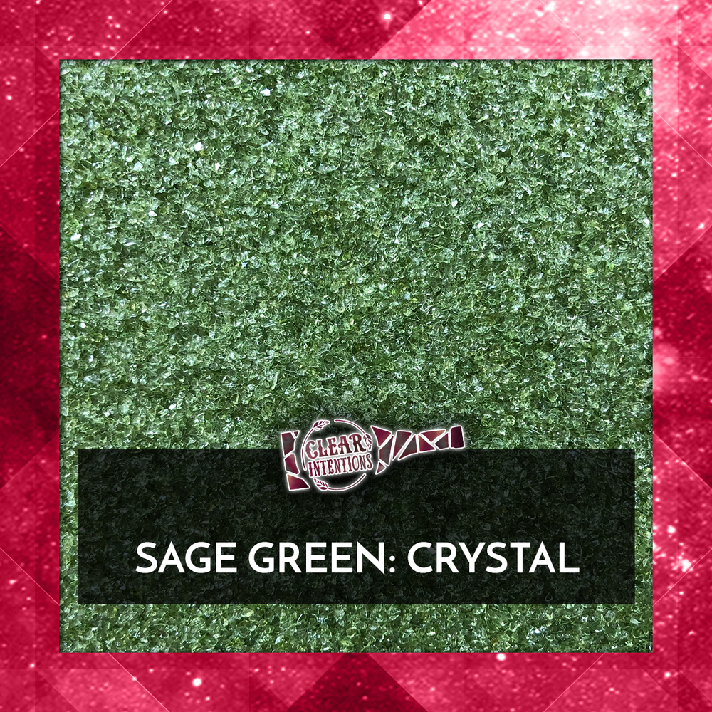 Sage Green Galaxy Glass Crystal | Recycled Crushed Glass.png