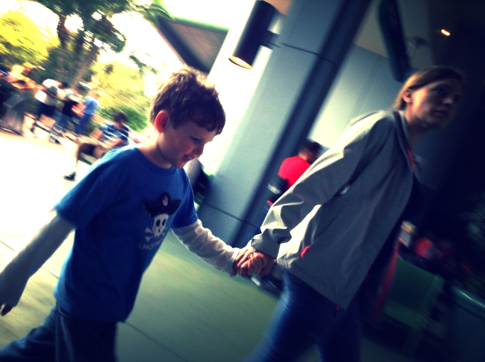 Holding hands at Disney...
