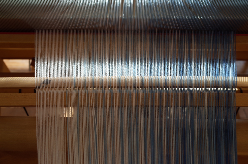 Winding on the warp.
