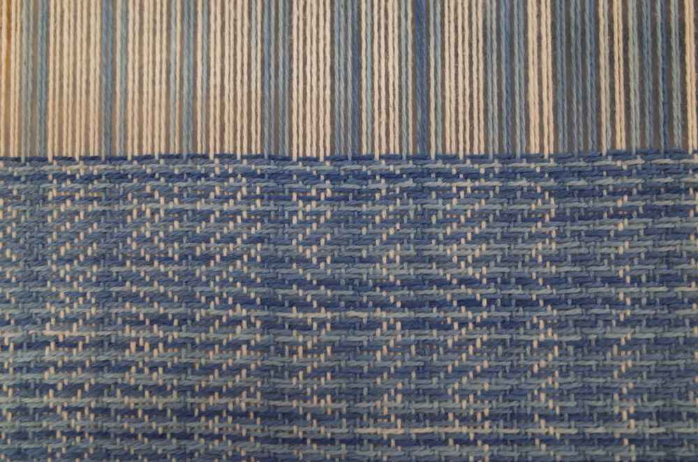 Weaving in progess detail.