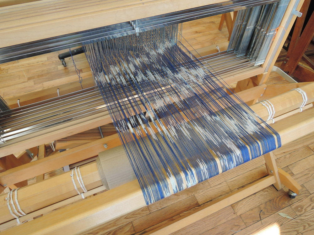 Dressing the loom!  (My favorite part.)