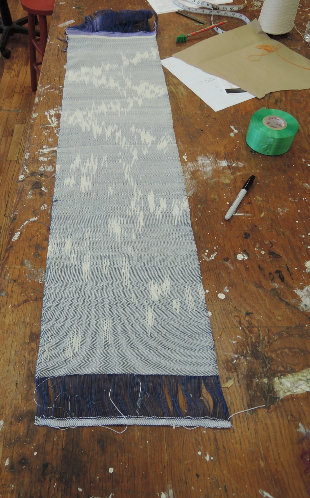 Cut off the loom and ready for finishing.