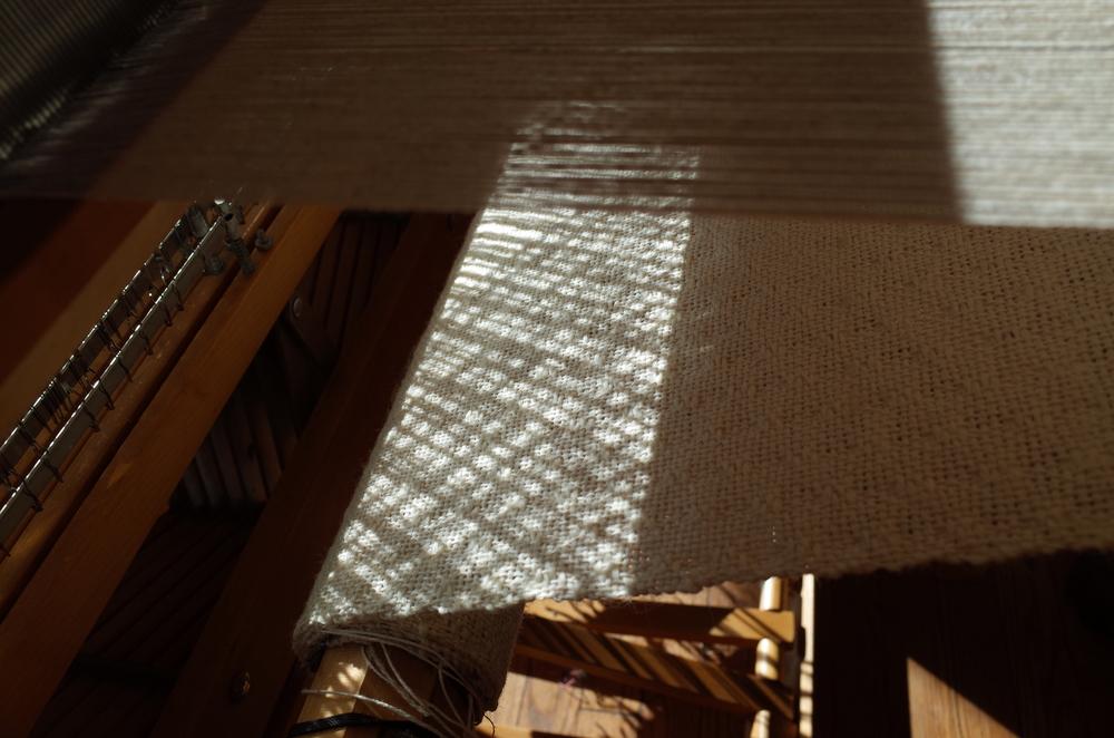 The sunlight even looked beautiful below the weaving.