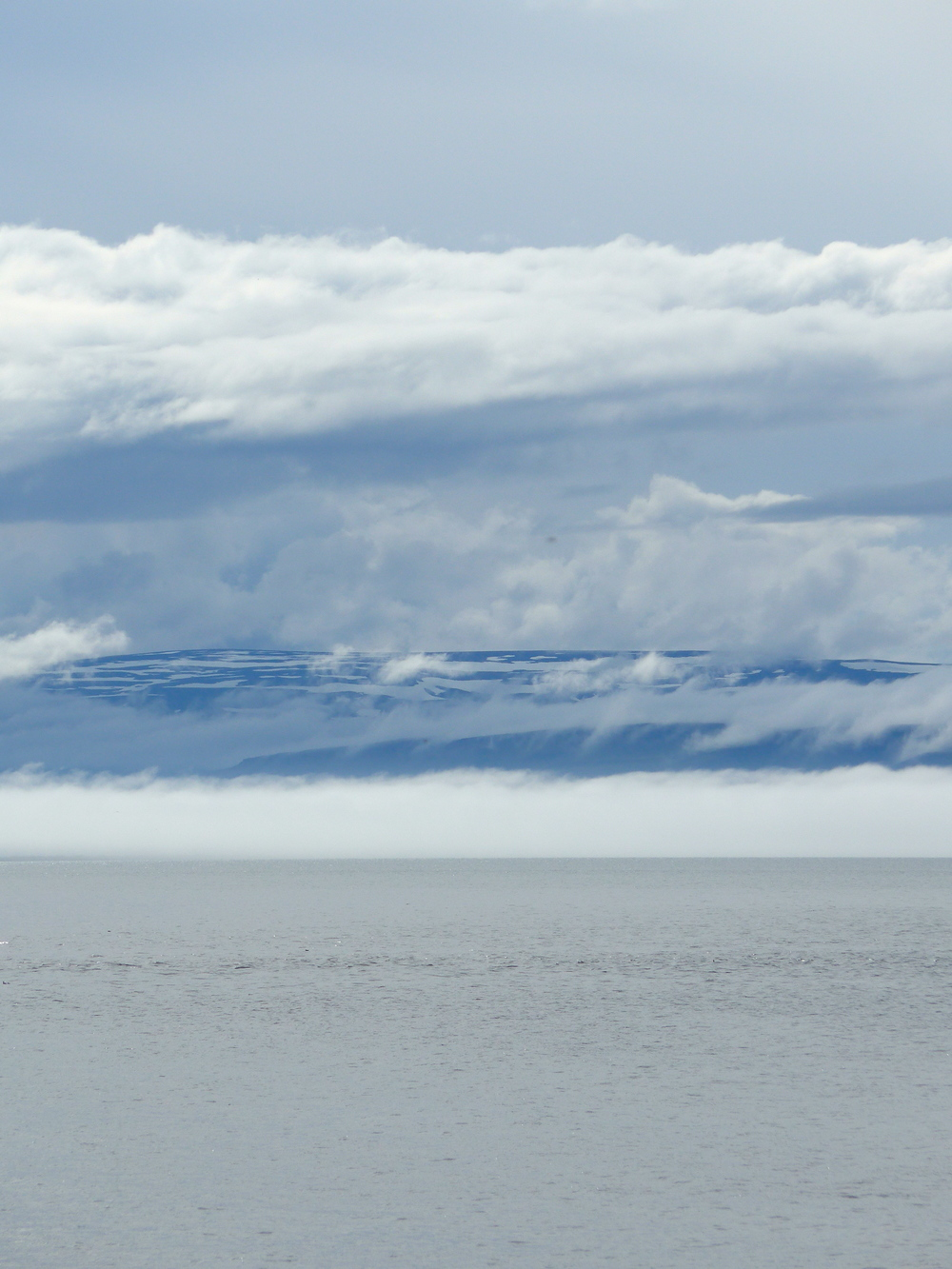 The view of the mountains across the fjord is spectacular.