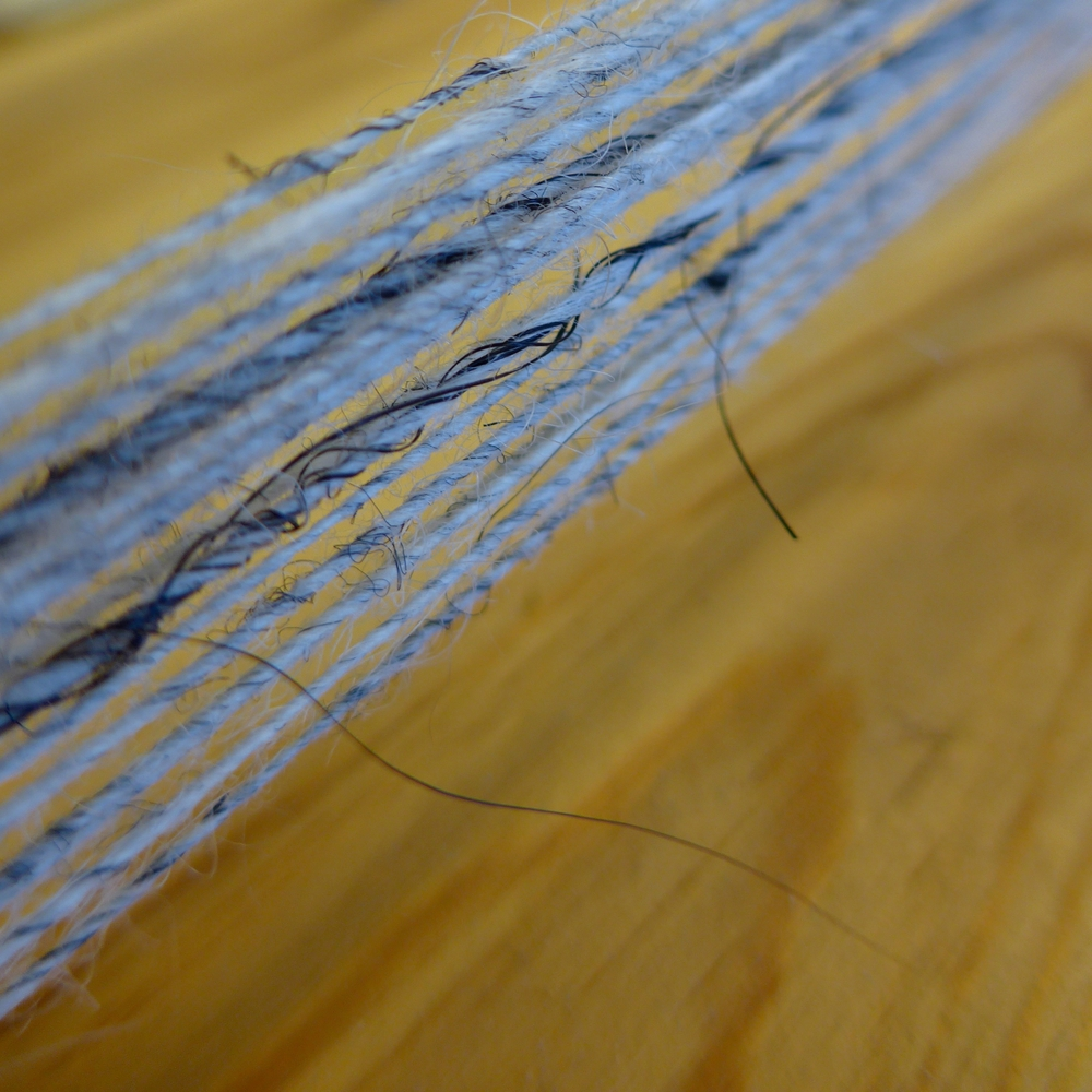 Icelandic wool and horse hair.