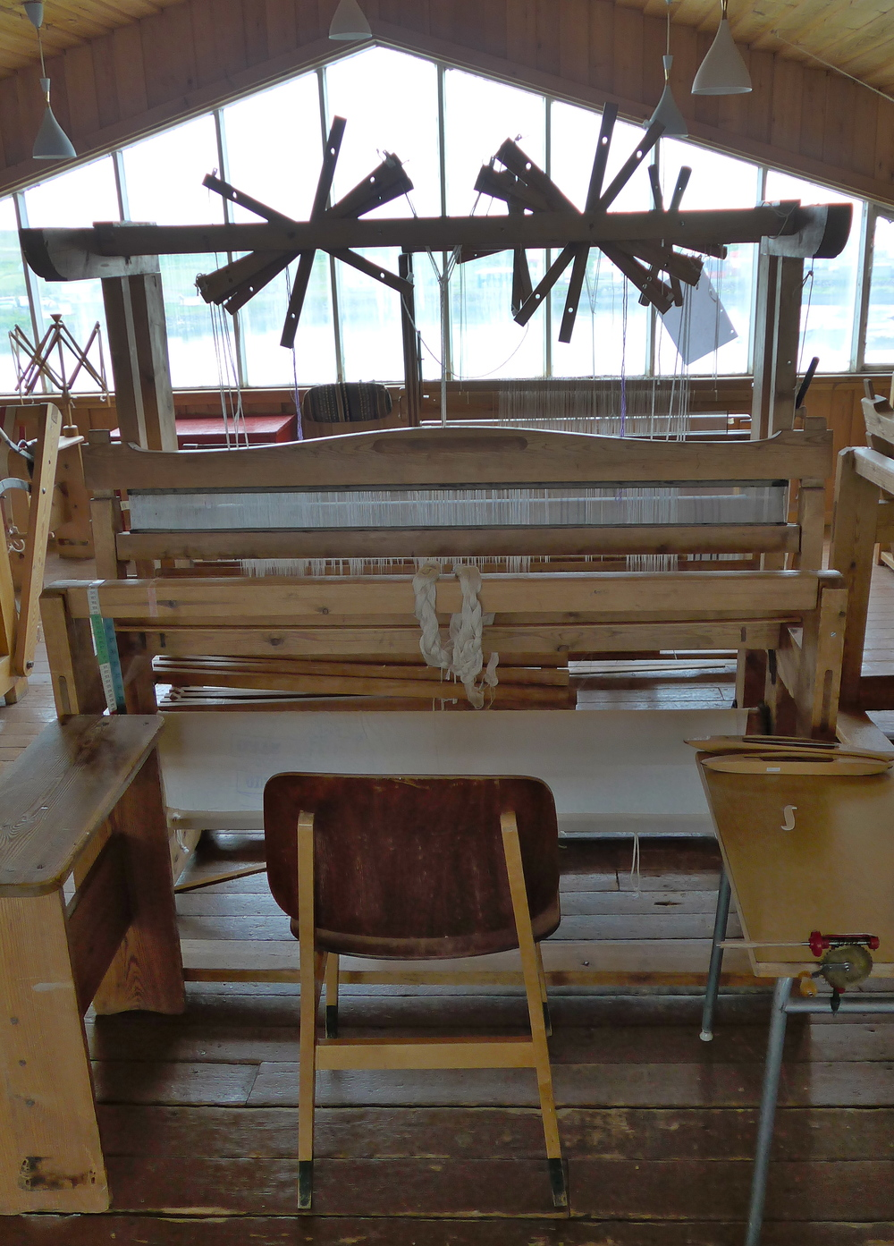 Here's the lovely loom I've decided to spend my time with. Plus there is a nice bonus view too. Thanks to all the previous residents who have restored her to this present state.