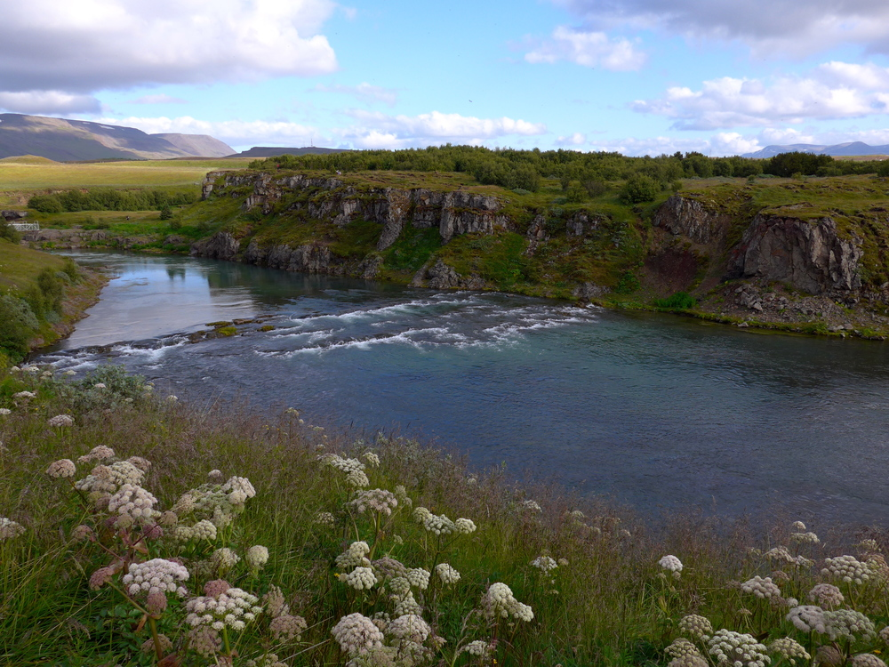 The island across the river Blanda.