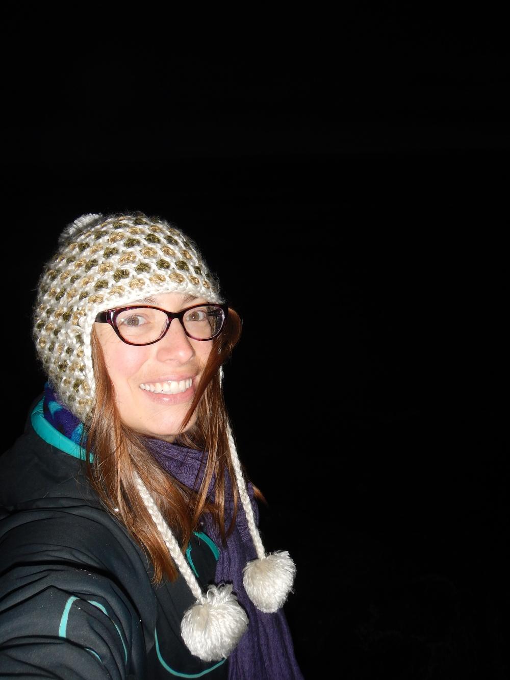 Enjoying my night hikes.