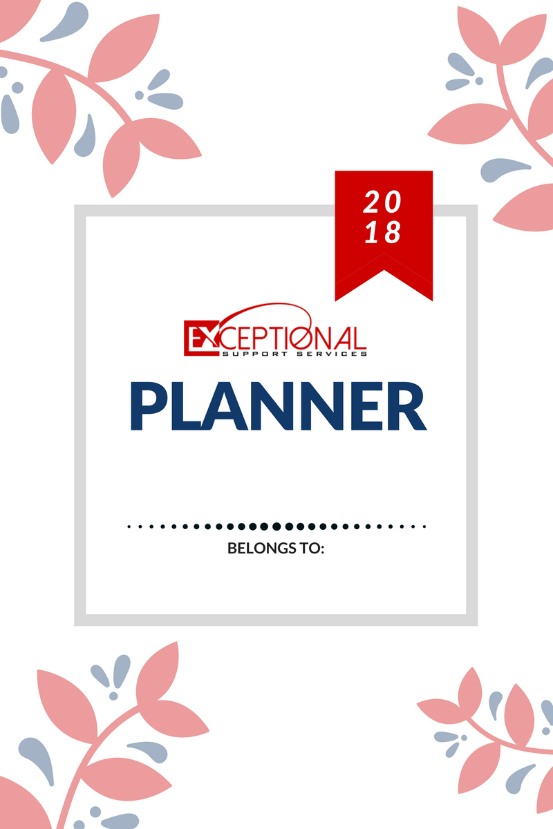 Exceptional Support Services 2017-2018 Planner