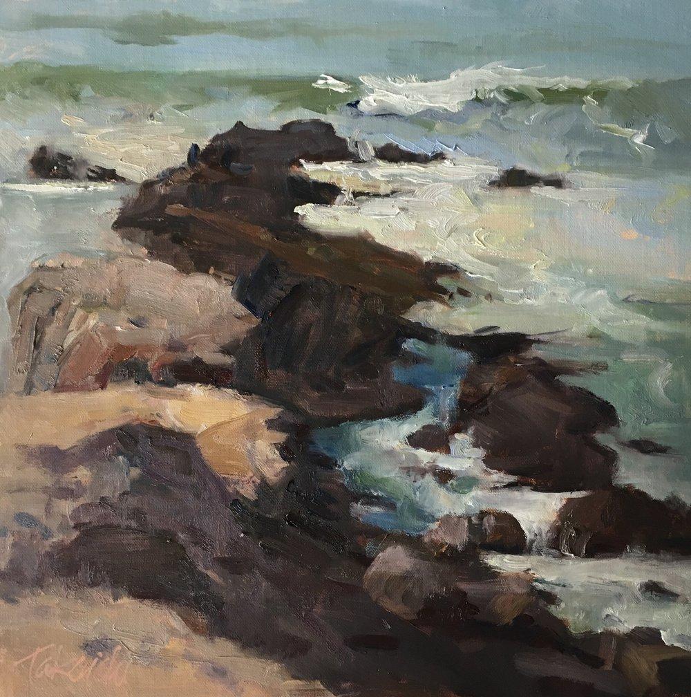 Pescadero Surf, 12x12