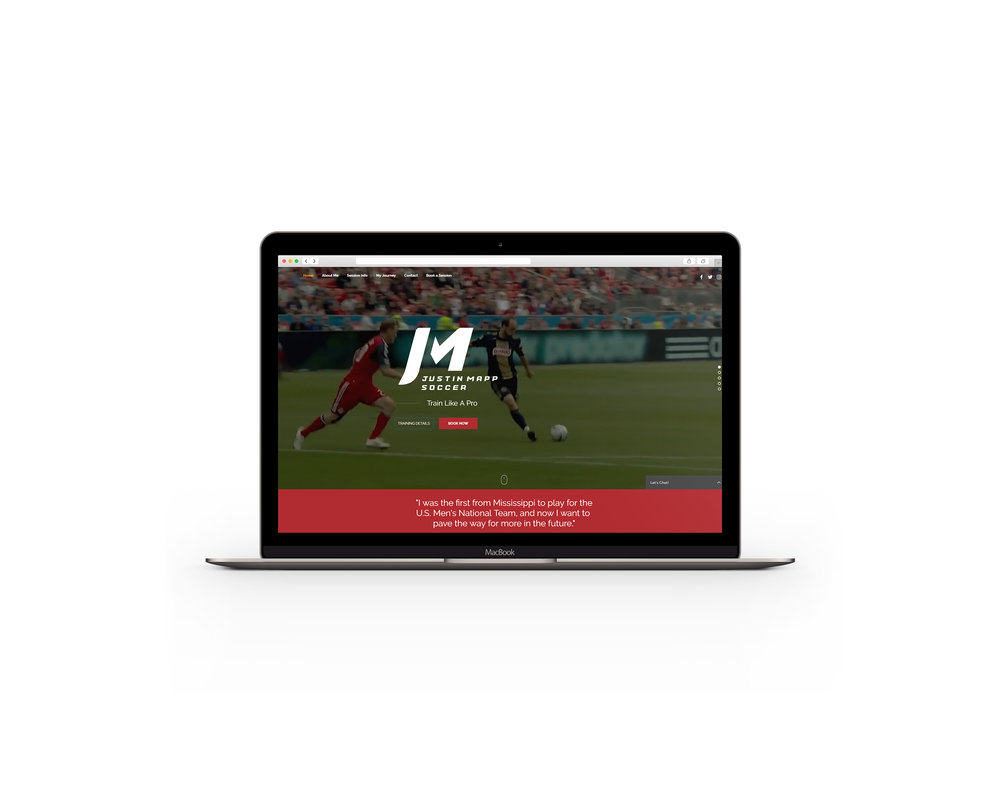 A fresh, modern website design for Justin Mapp Soccer. Click the photo to visit the site.