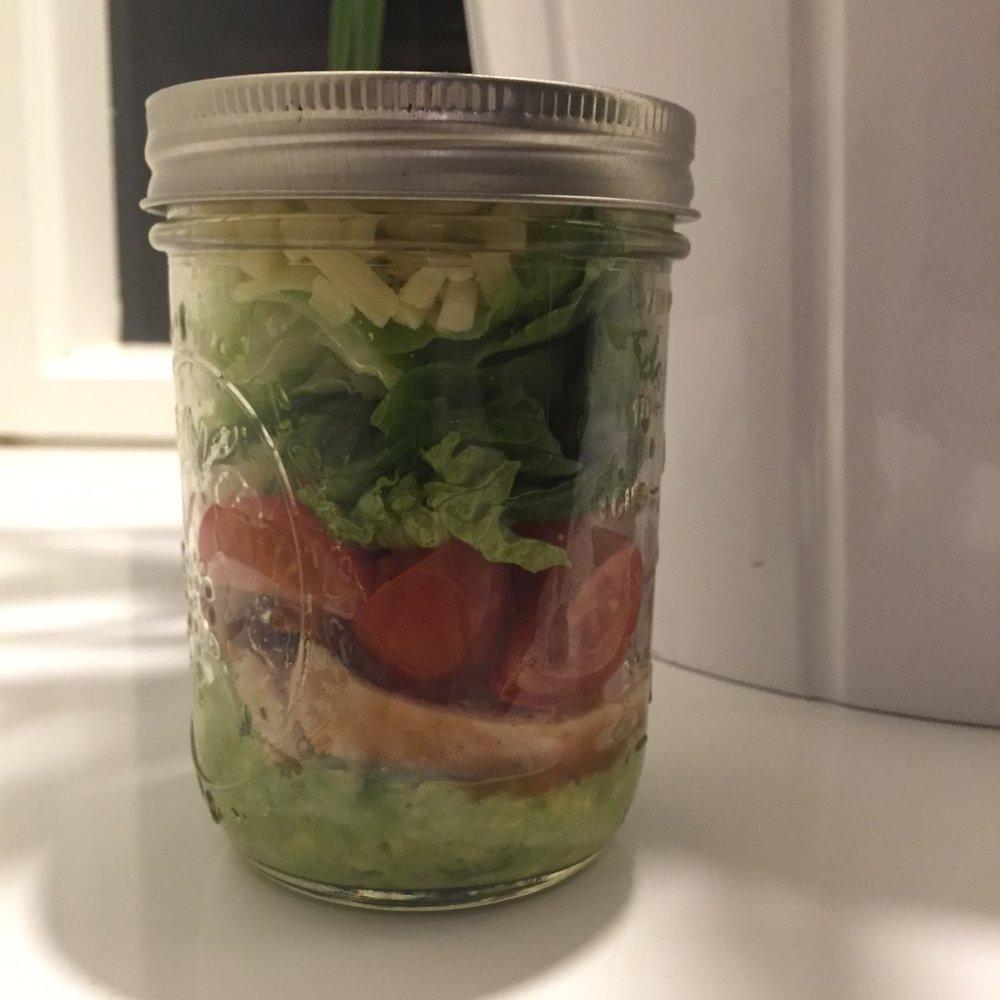 Chicken Fajita Salad in a Jar