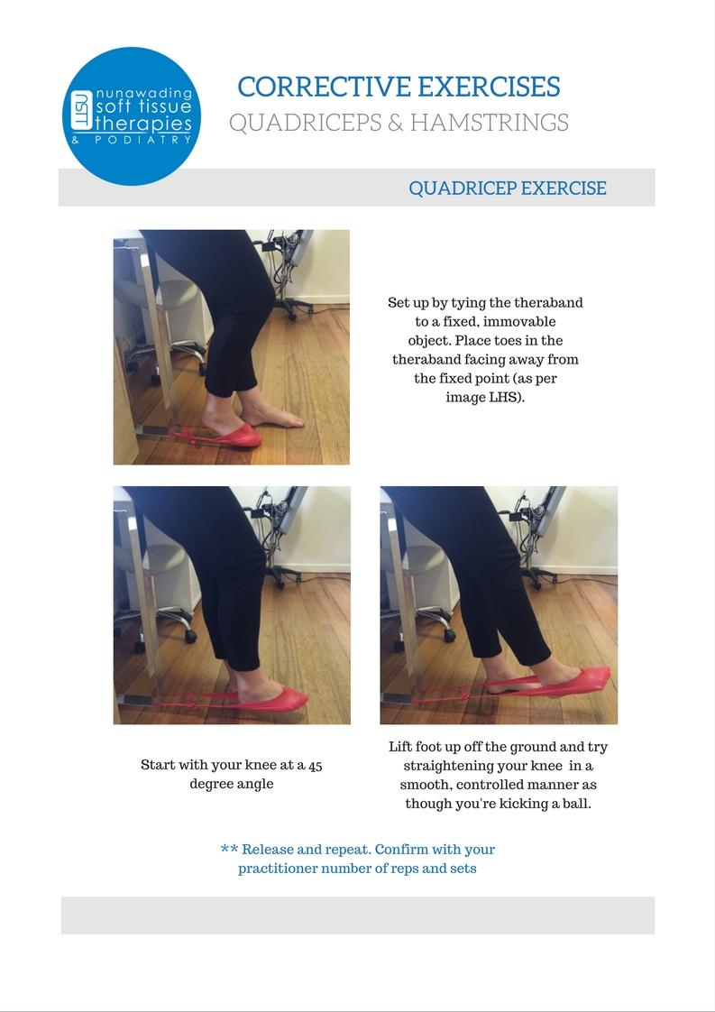 Quadriceps & Hamstrings Exercises