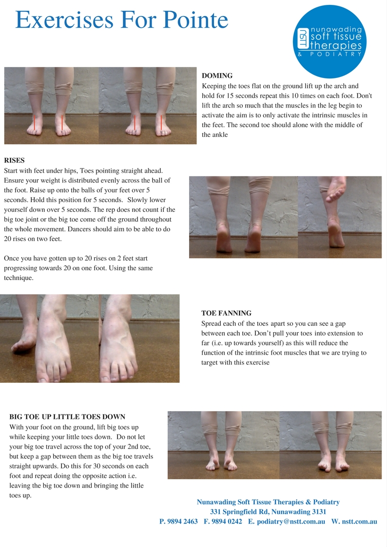 Pointe Exercise Resource