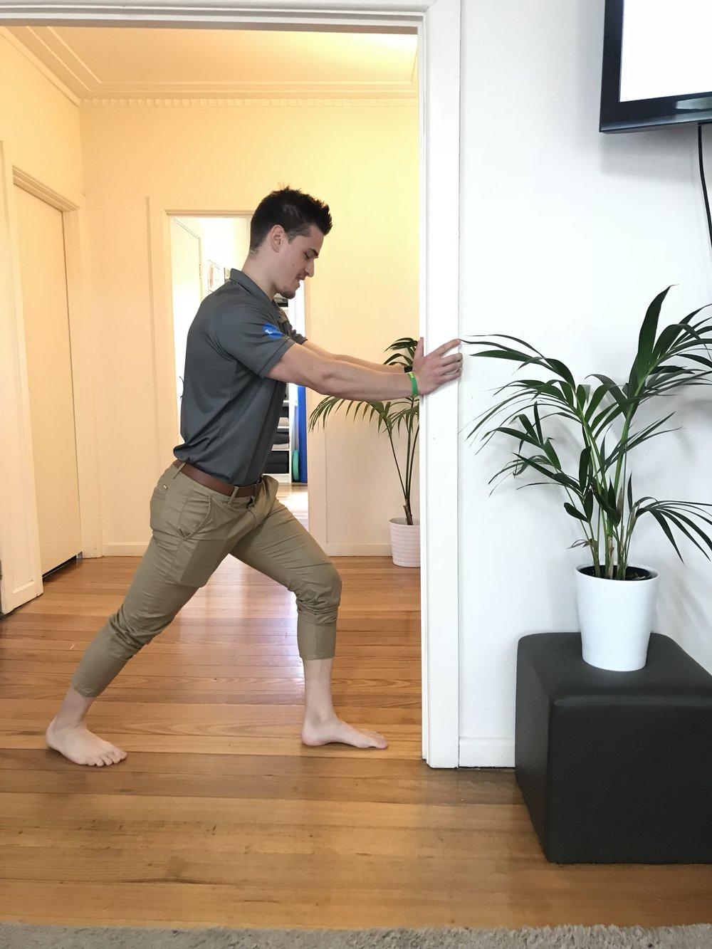 Calf Stretch: 3 x 30 seconds a day