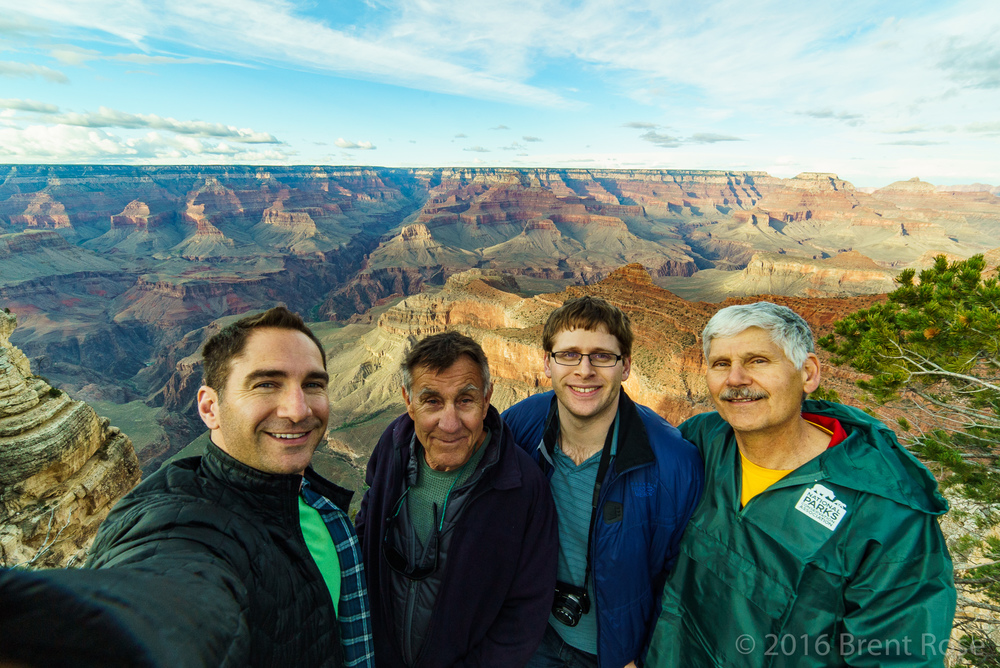 Grand Canyon with dad, brother, and family friend Butch