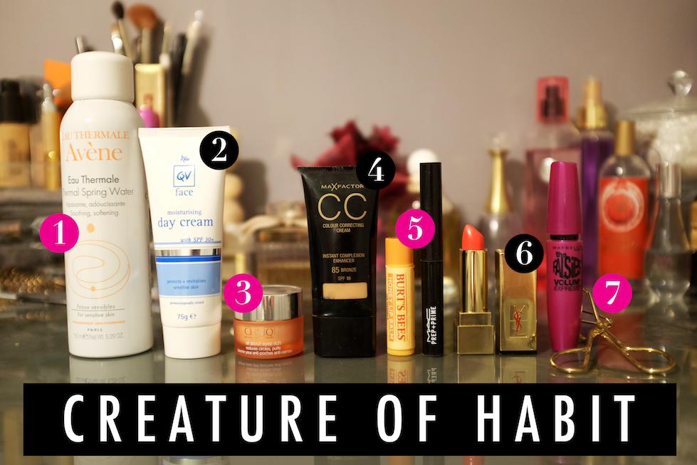 Morning routine, makeup, skin care, cosmetic, moisturiser, cc cream, cream, eye, moisture, water, clinique, qv, australia, skin