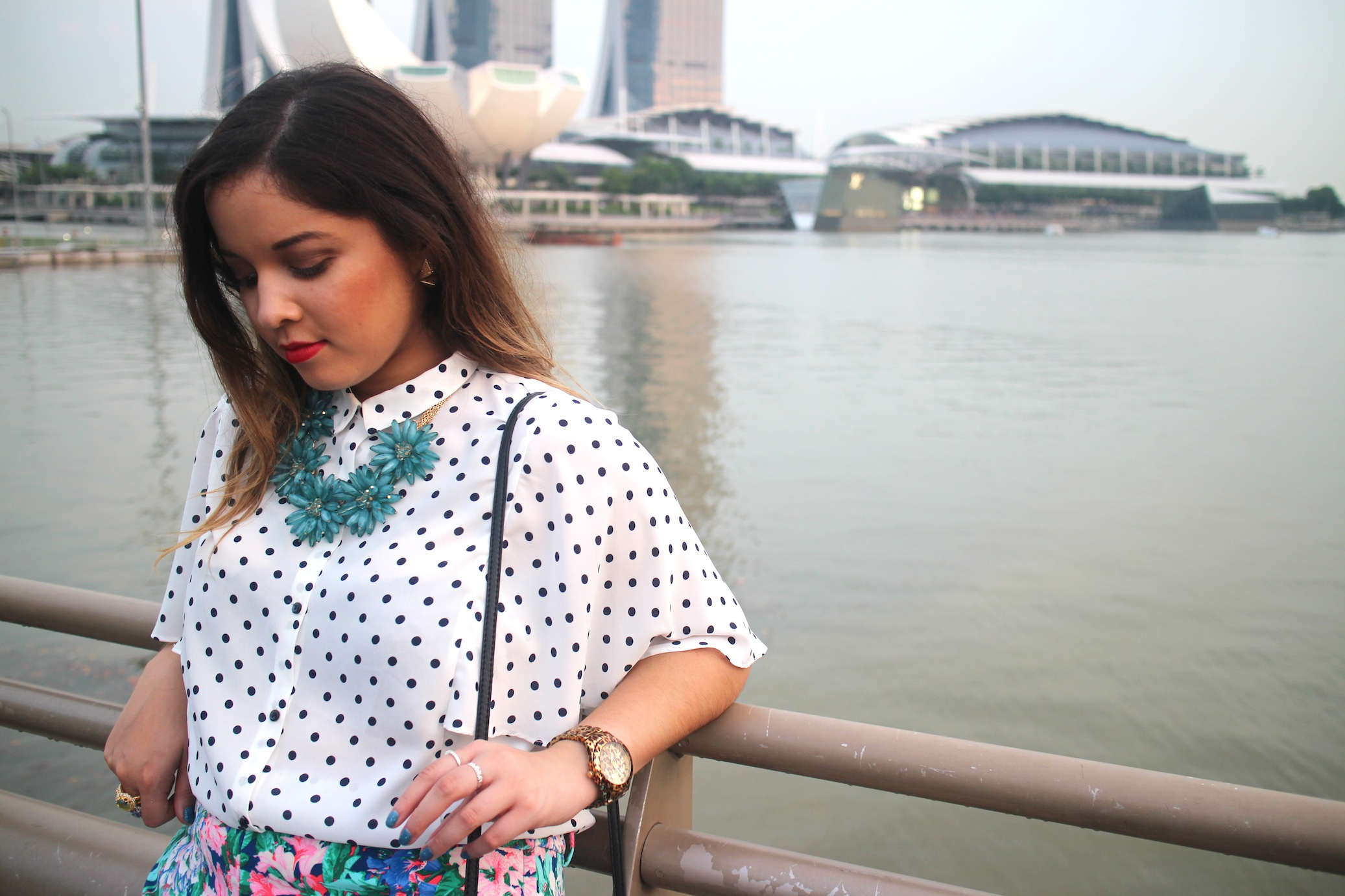 nezuki, Singapore, Zara, Lovisa, jewellery, jewelry, shoes, heels, floral, pants, printed pants, polka dots, red lips, Kith, food, foodie, foodporn, vintage, Sinagpore style, Marina Bay, tropical, travel, photography, fashion, style, classy, blogger