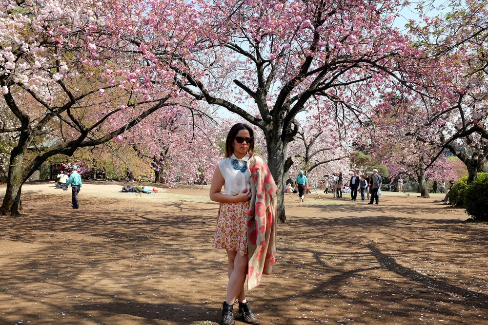 sakura, cherry blossom, Shinjuku, shinjuku gyoen national garden, flower, botany, botanical, Spring, Japan, Travel, photography, fashion photography, street photography, romance, love, Nezuki, blogger, MATRIOCHKA by Les Briqu'a * braque, Forever 21, Uniqlo, Lovisa, Prada, Sunglasses, kawaii, sweet, cute