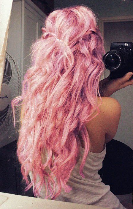 pink hair, hair, hairstyle, pink, candy, pink, cute, kawaii, candy, fashion, sweet, style, hairdressing, hair inspo, inspiration, ombre pink, ombre pink hair, blogger, street style, Nezuki