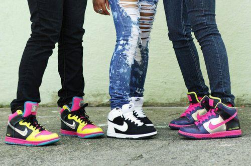nezuki, high tops, nike, trend, fashion, shoes, sneakers, high-tops, skates