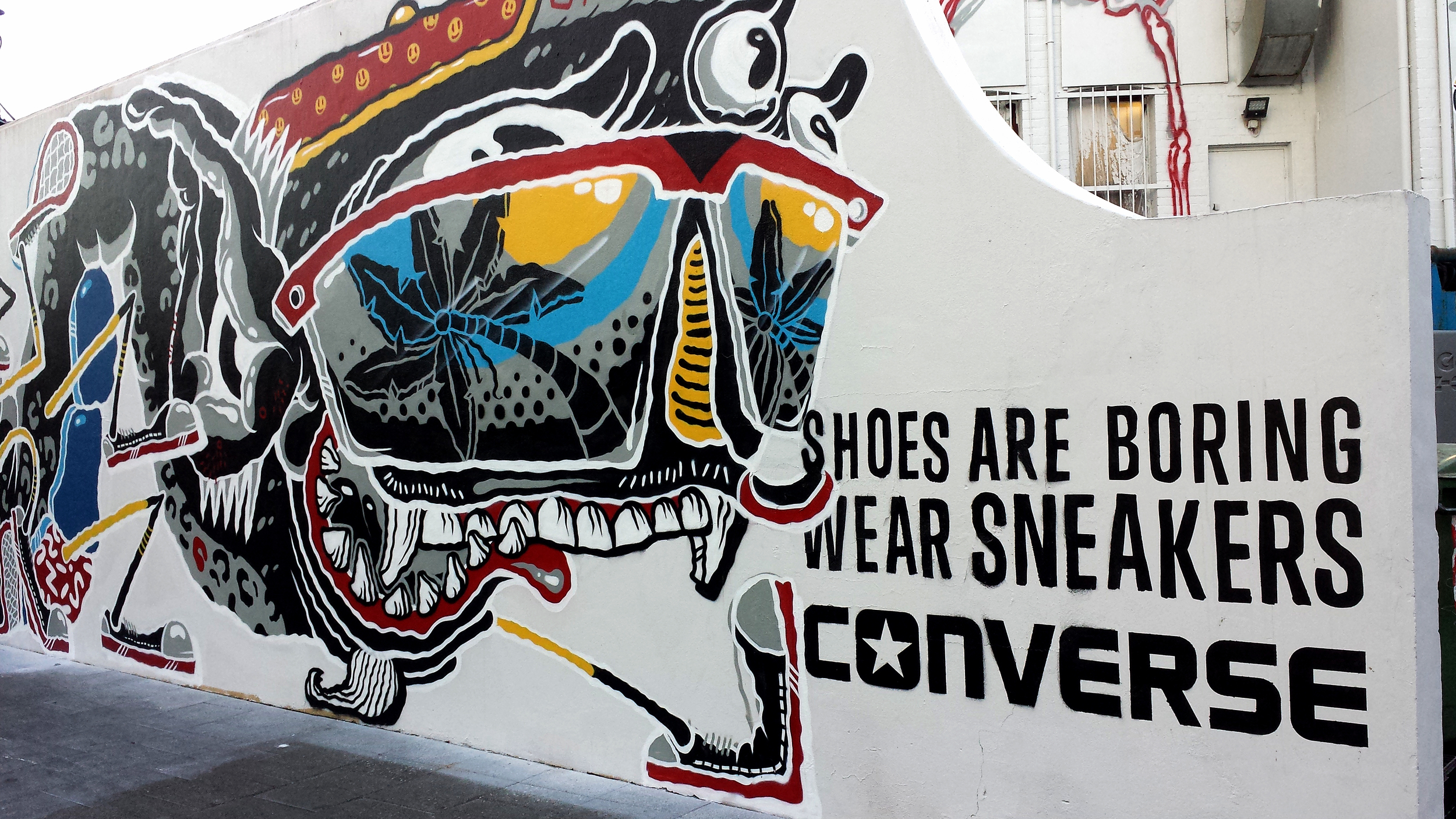 Converse, sneakers, shoes, graffiti, aerosol art, street art, local artist, fremantle, perth, art, advertising, marketing, promotion, design, visual arts, stencil, spray paint, perth art, australian art, nezuki