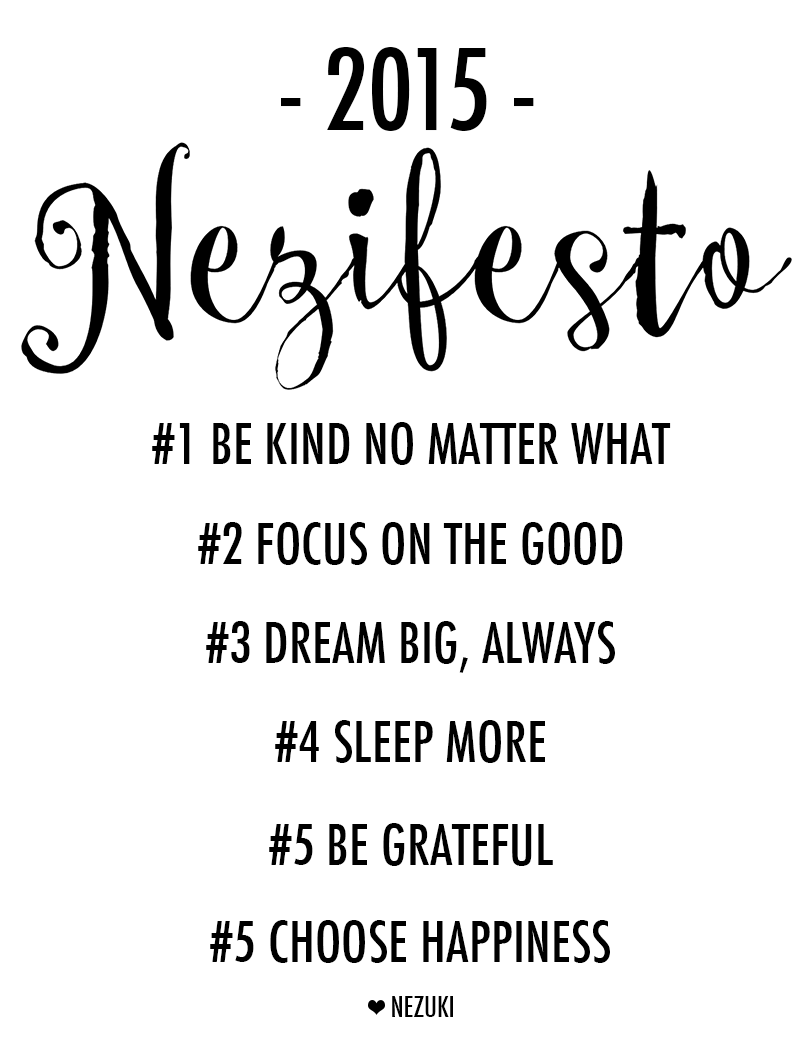 nezuki, 2015, new year, new years resolution, new start, dream big, focus on the good, be kind, pinterest nezuki, vanessa collars