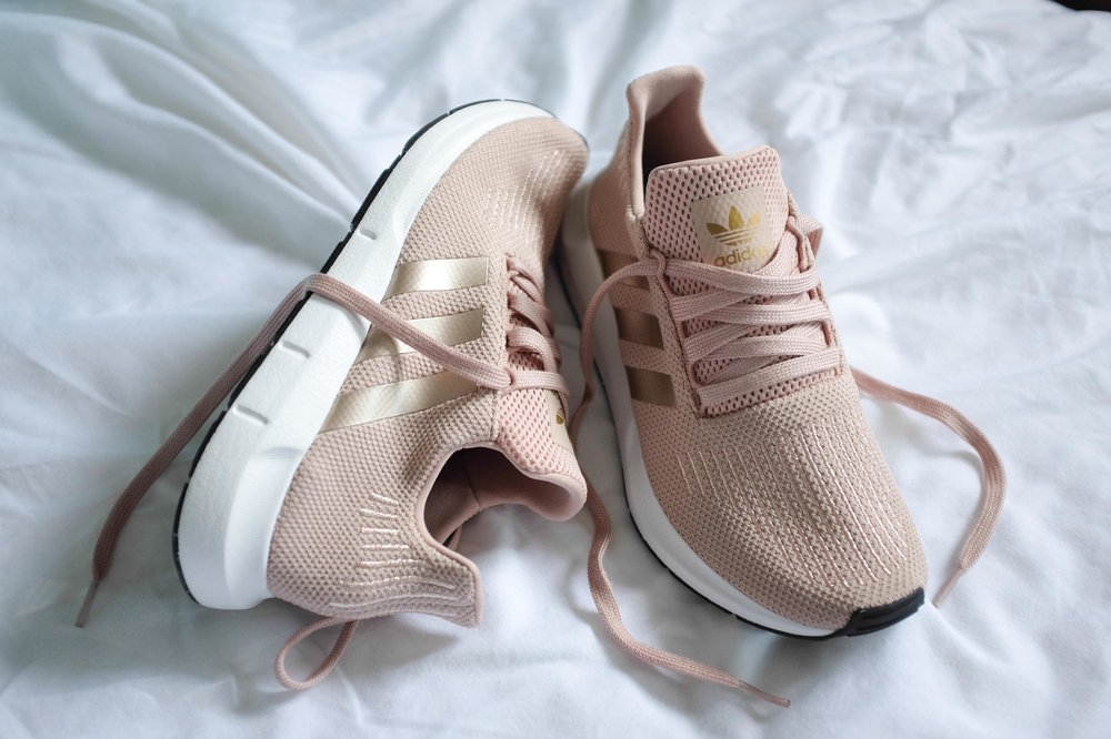 adidas originals swift run in dust rose, nezuki, milleNnial pink, Peony, pink sneakers, pink trainers, adidas, adidas swift run, adidas australia, image by vanessa collars