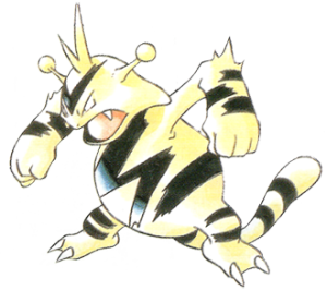 Electabuzz, artwork by Ken Sugimori