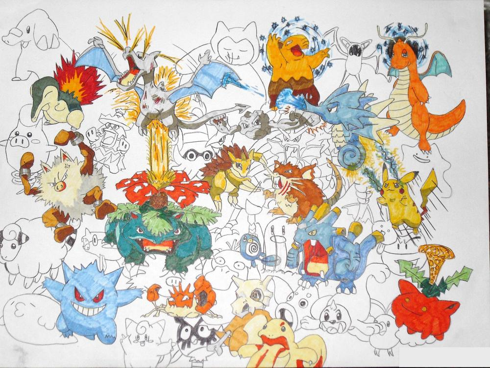 My first big Poké pic (A3) and the first thing I tried to sell (on eBay)
