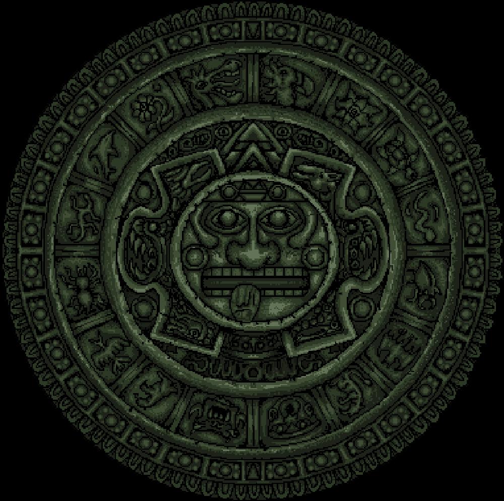 Mayan pixel art doomsday calendar