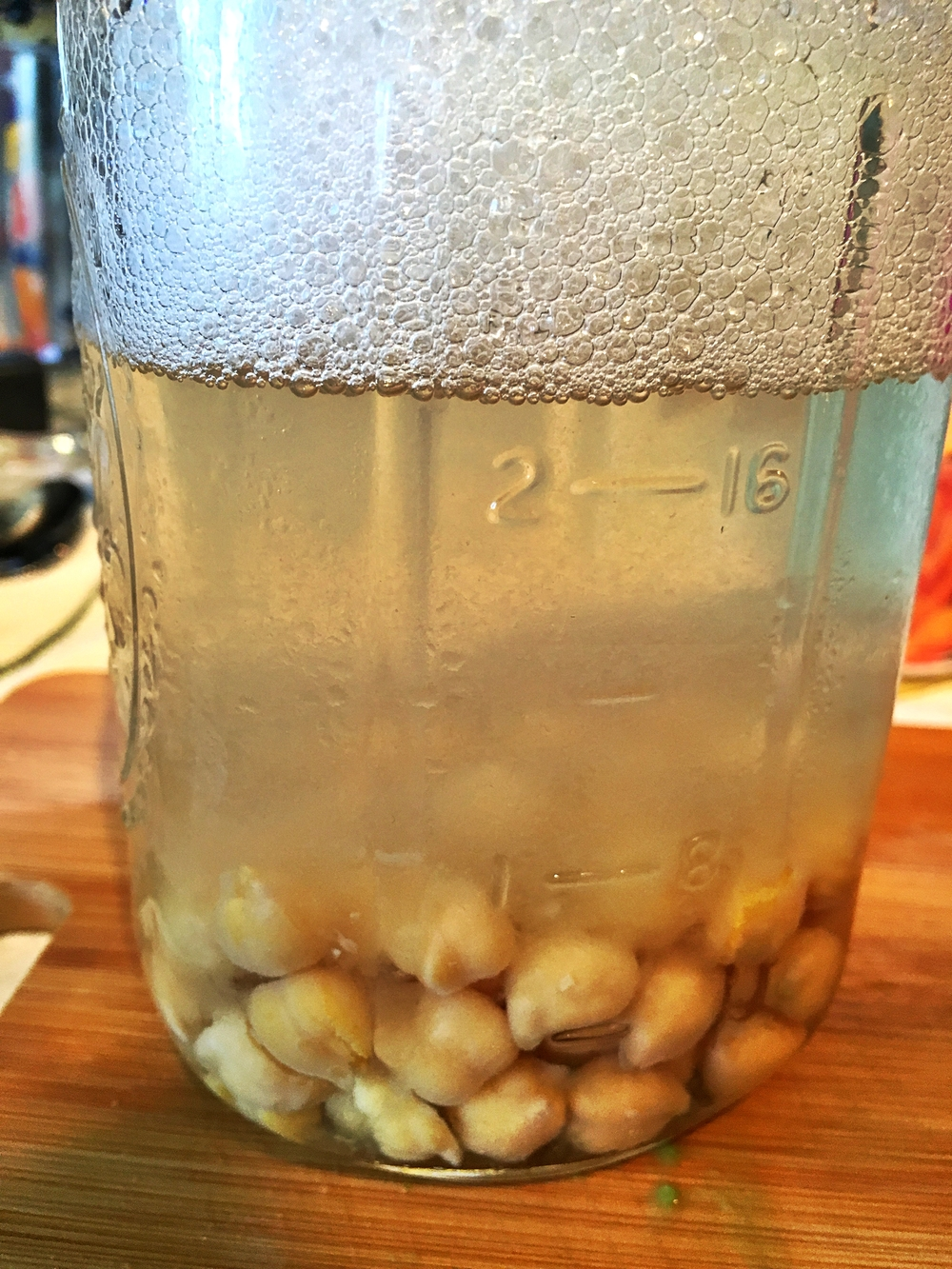 Those bubbles you see in the water? Fart inducing! Just rinse your beans before you use them.
