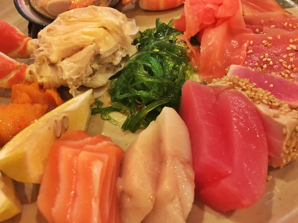 So much sashimi so little time!