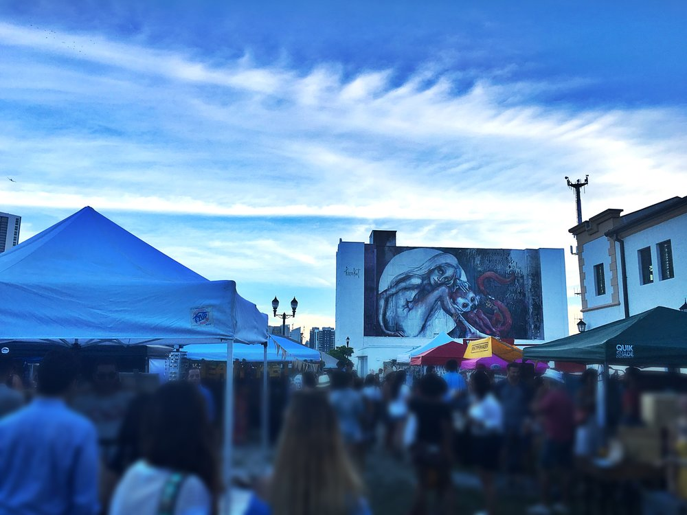 The evening sky over Miami Flea in August