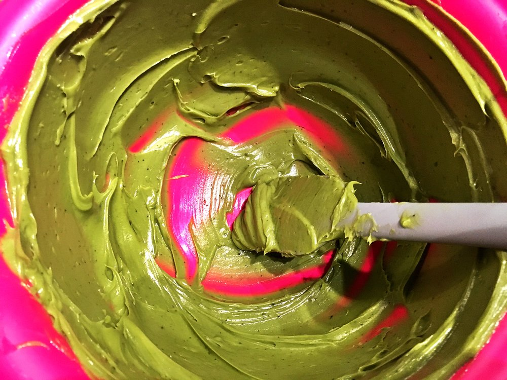 Match Cookies pre-mix - Make sure your butter is really soft at room temperature and can be swirled around with a spatula in a creamy texture. This is where you combine the sugar and the matcha powder.