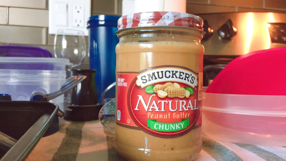 My favourite peanut butter - no sugar and salt added. Just peanut butter. Best friend to oats.