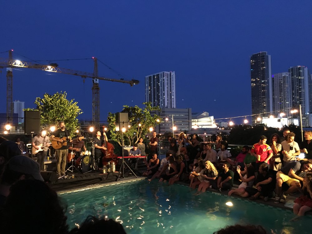 Pool party with a live music performance!