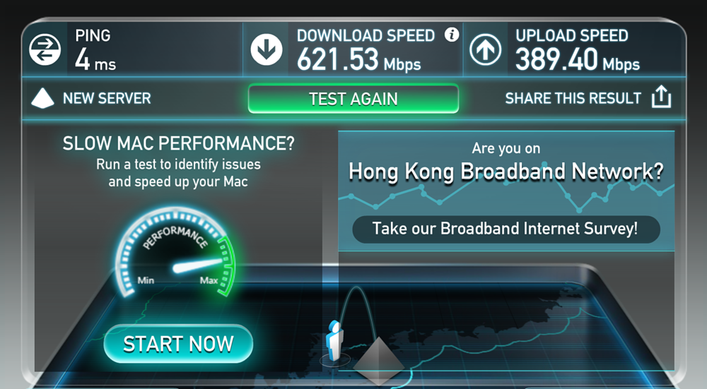 If you are new to Hong Kong, we highly recommend HKBN. Locals tell us they are the best in terms of price and service. We got connected in 3 days with our TV, mobile, internet and home phone bundle. And look at that speed. The bundle price is also super affordable!