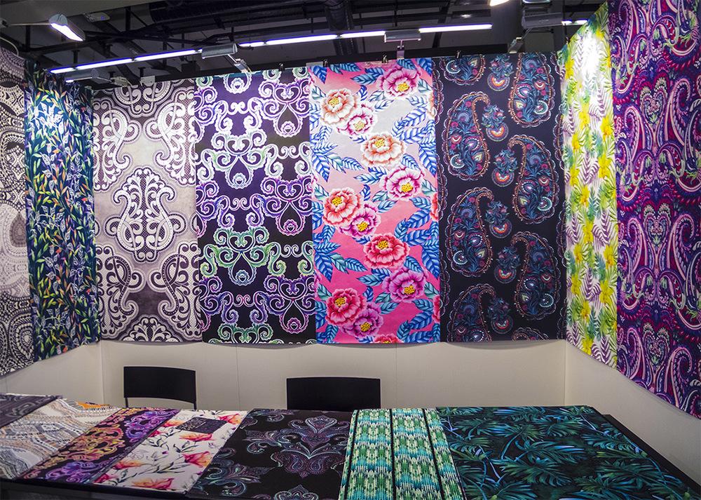 Our stand on Heimtextil. Left side is Natasha Levental's beautiful designs, right - me, Elena Belokrinitski