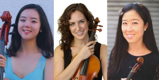 Rebecca Jackson, violin; Tiffany Richardson, viola; Katie Youn, cello